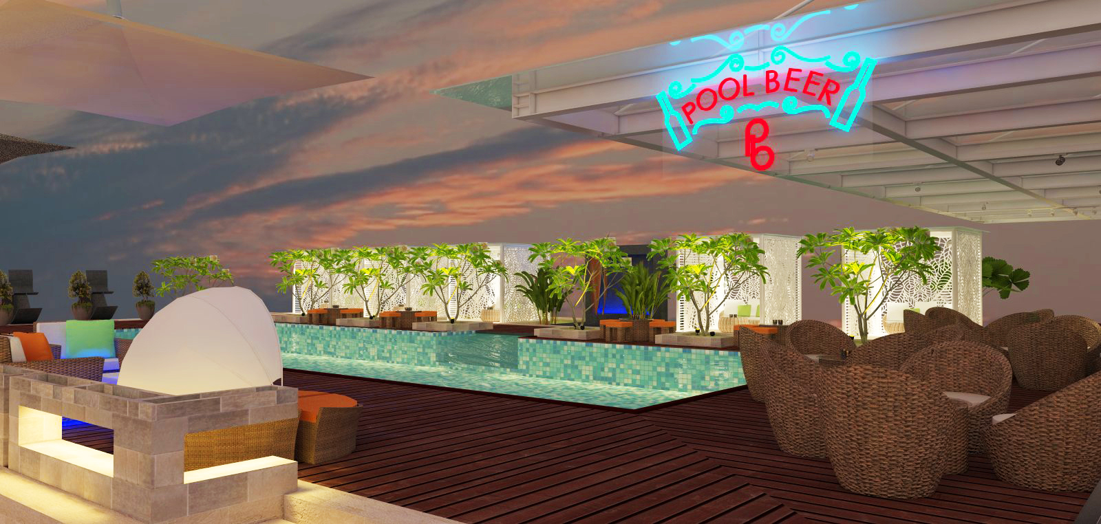 Pool Bar, NOVOTEL TANGERANG CITY MALL (Proposal Design)